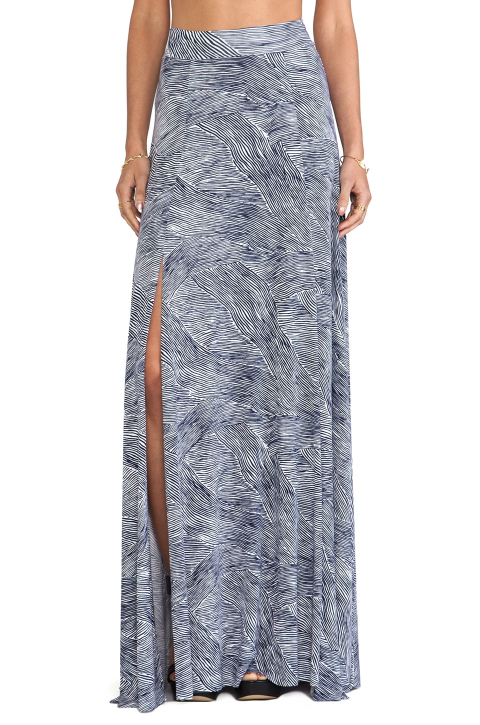 Rachel Pally Josephine Printed Maxi Skirt in Terra