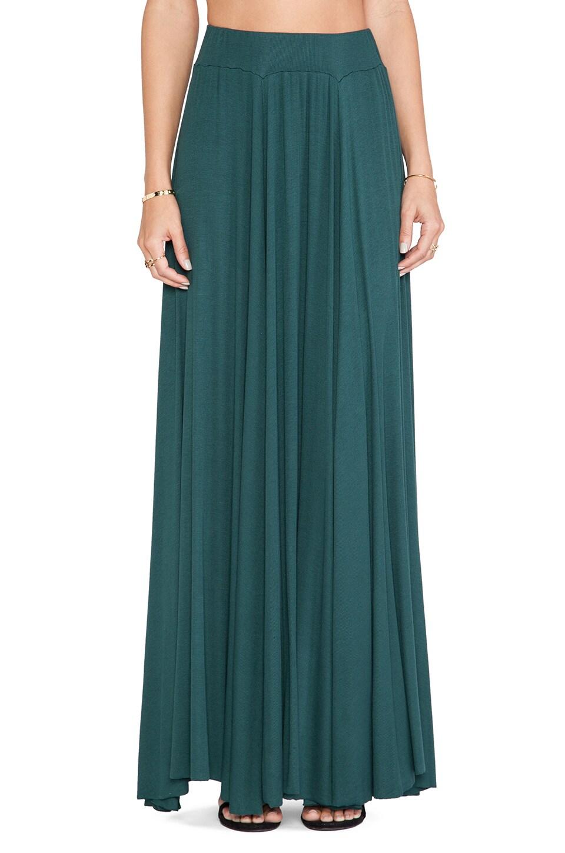 Rachel Pally Rib Seam Maxi Skirt in Hunter