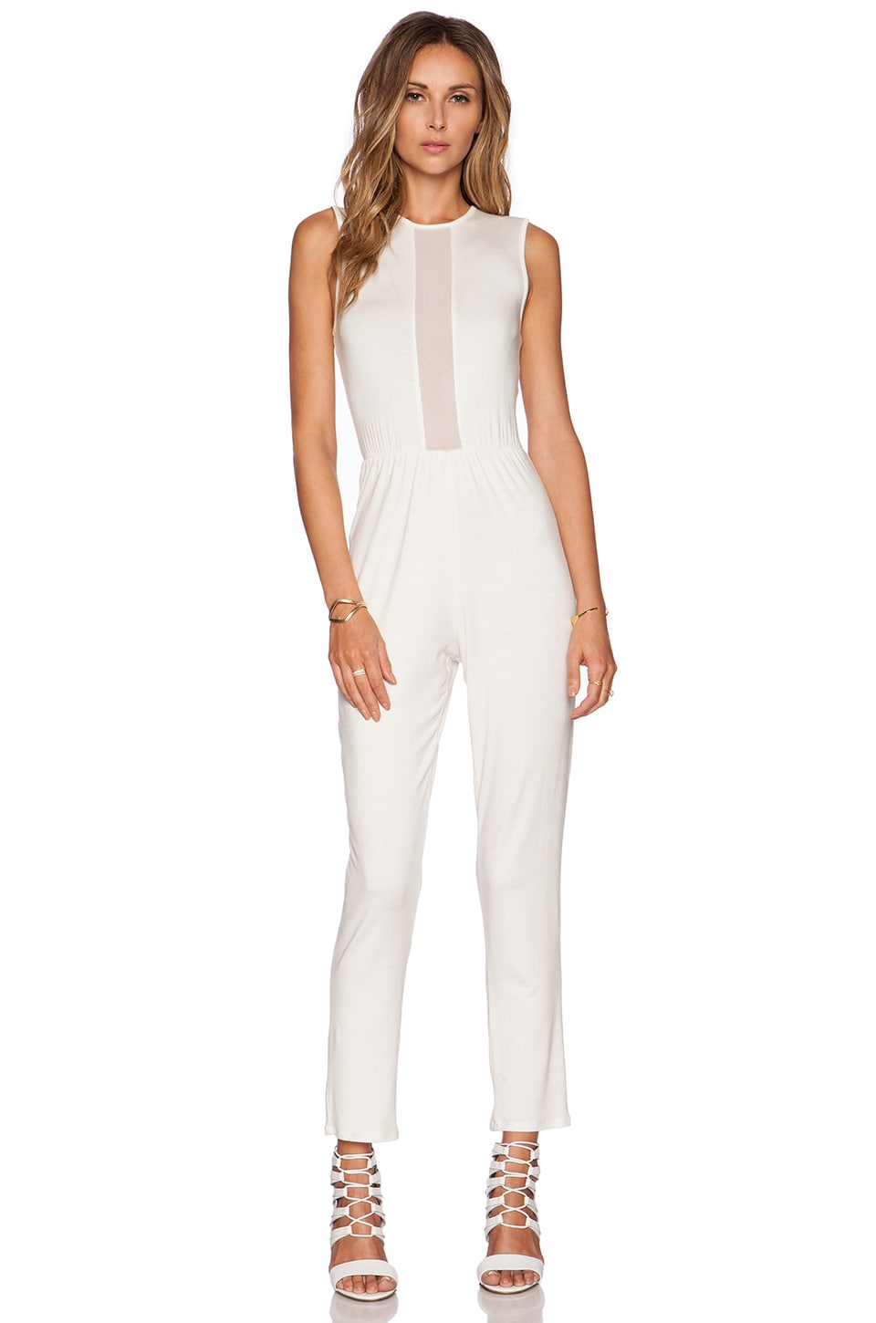 Rachel Pally Mesh Darralynn Jumpsuit in White