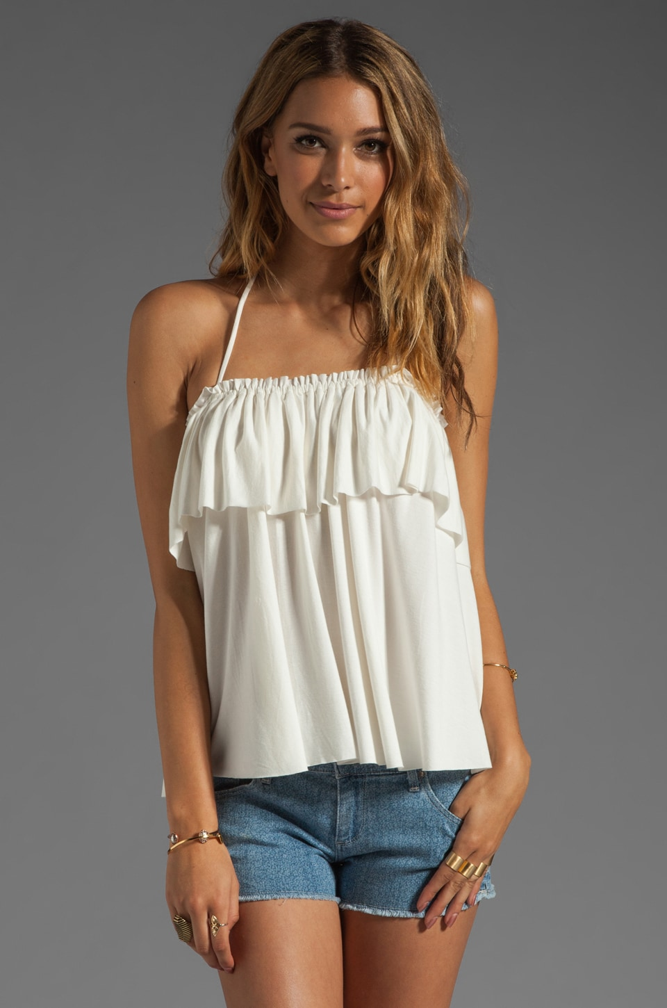Rachel Pally Kao Halter Top in White