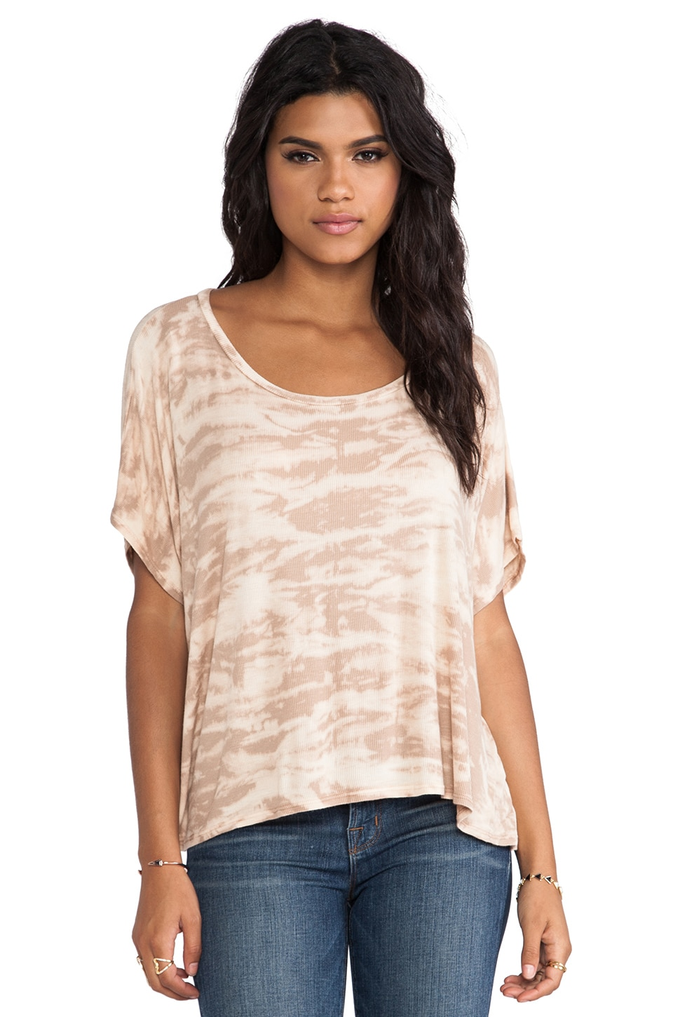 Rachel Pally Rib Darby Top in Bamboo Tie Dye