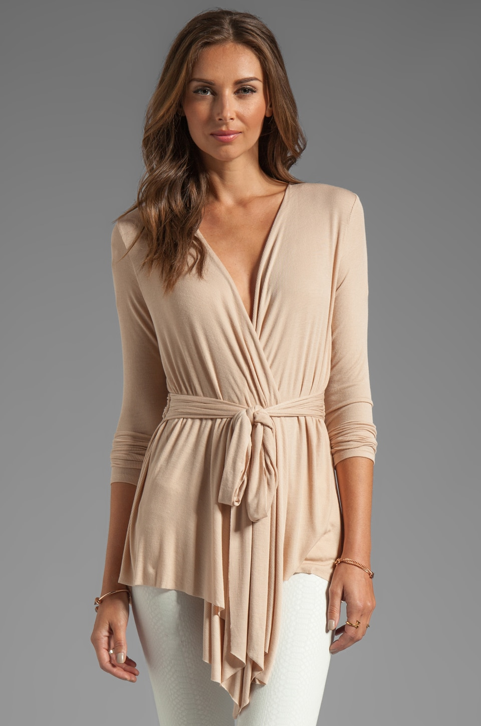 Rachel Pally Rib Rollo Top in Bamboo