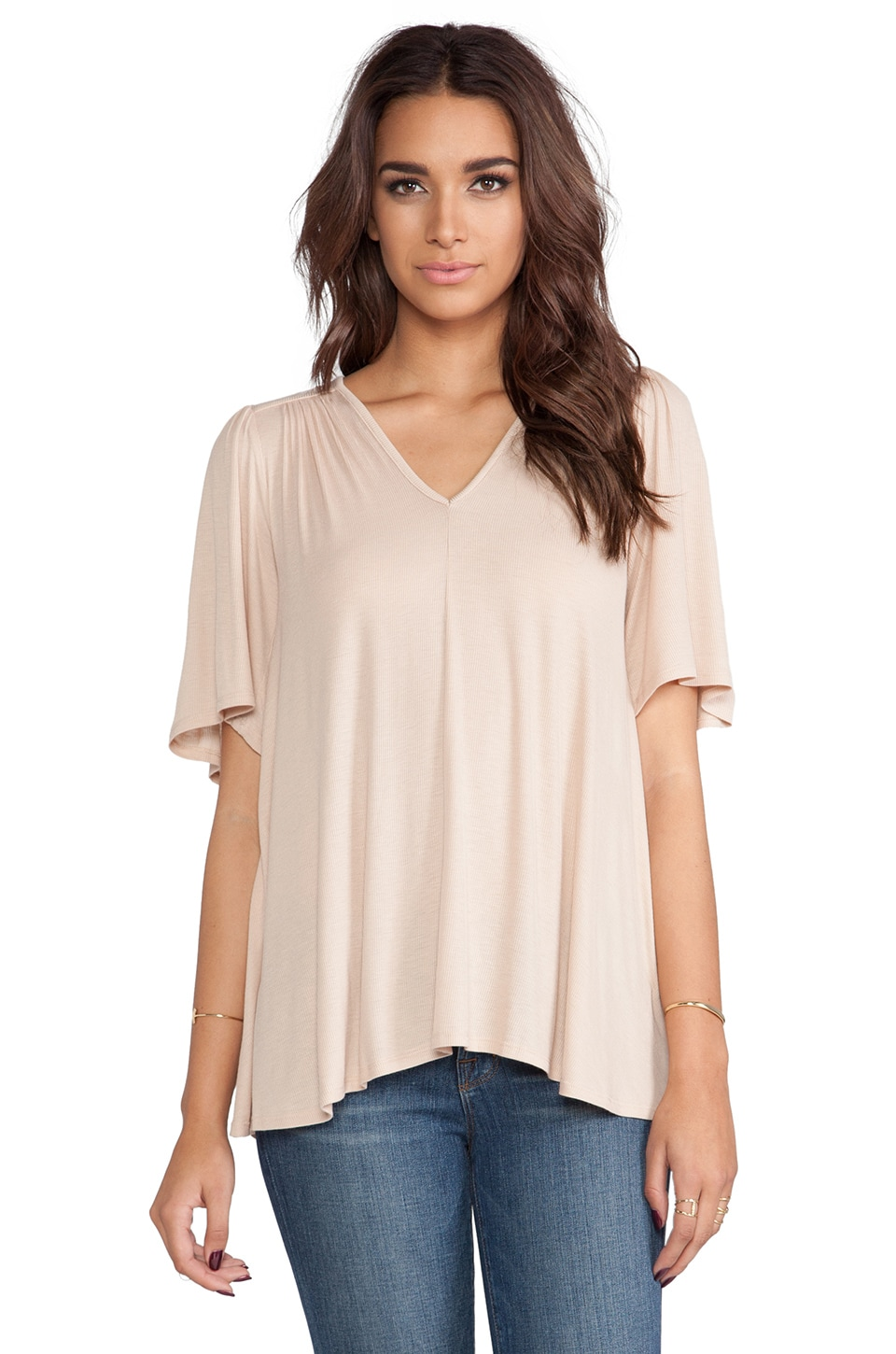 Rachel Pally Rib Highway Top in Bamboo