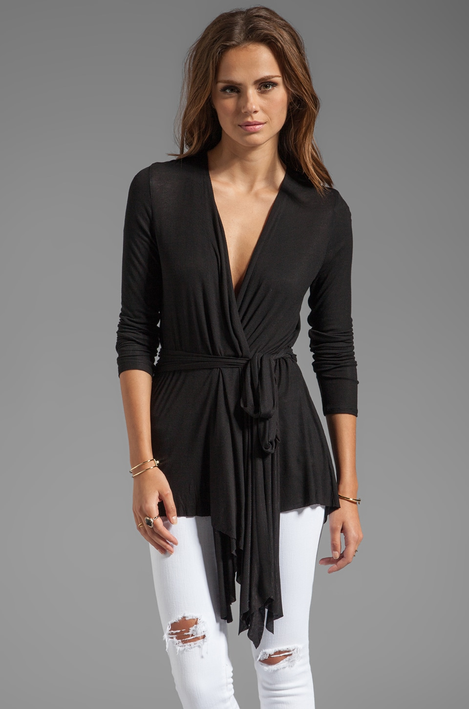 Rachel Pally Rib Rollo Top in Black