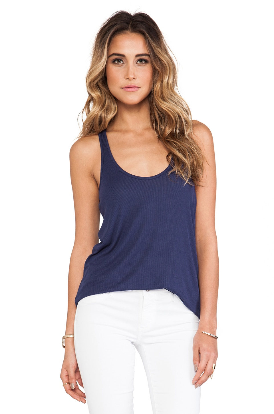 Rachel Pally Rib Racerback Tank in Deep