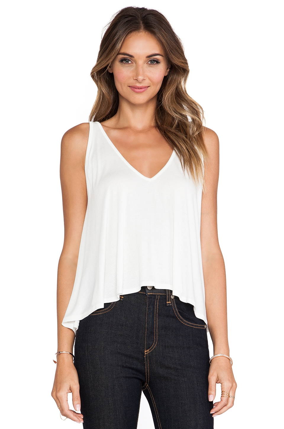 Rachel Pally Rib Ramita Tank in White