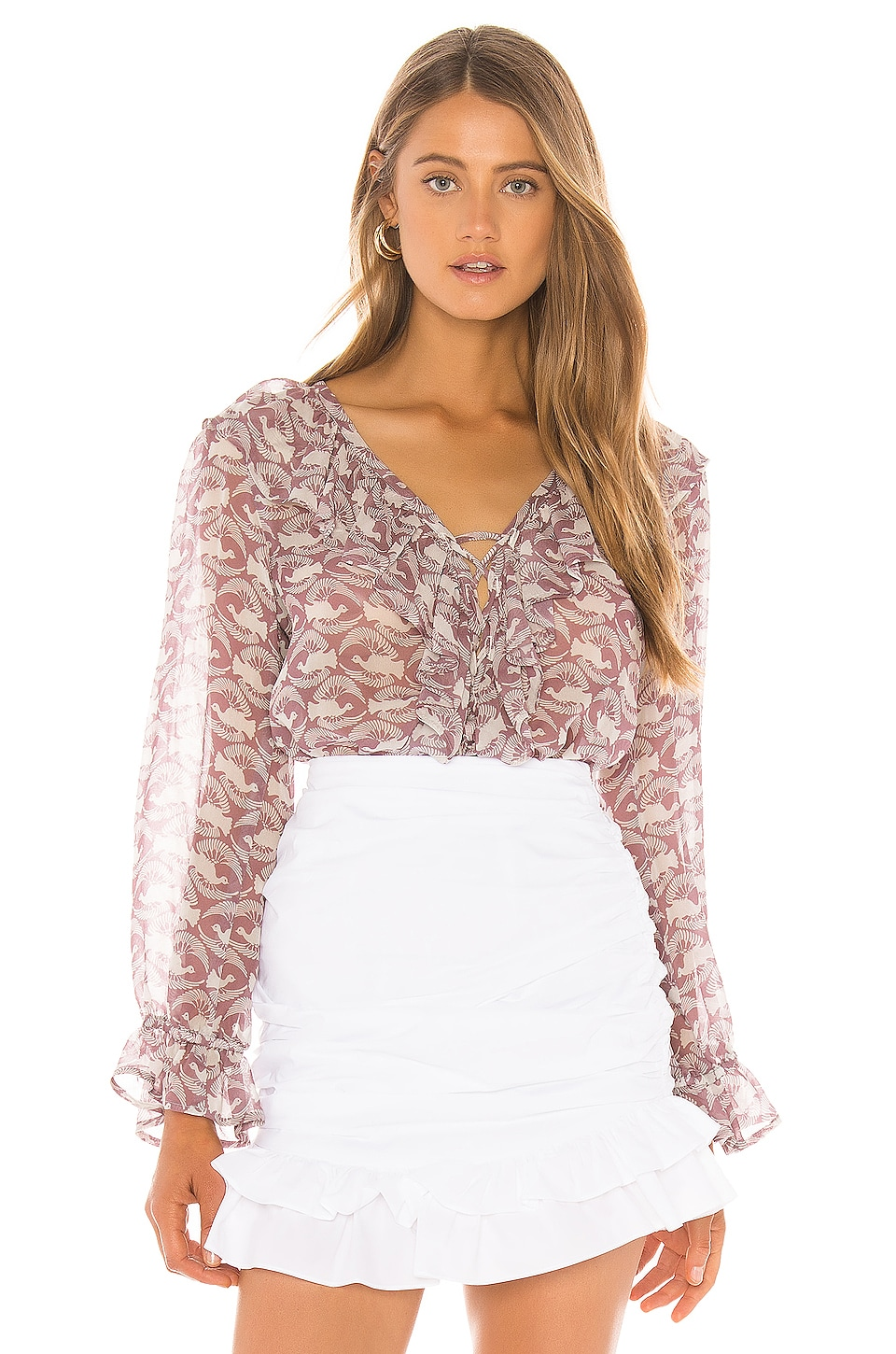Rachel Pally Chiffon Eros Top in Dove