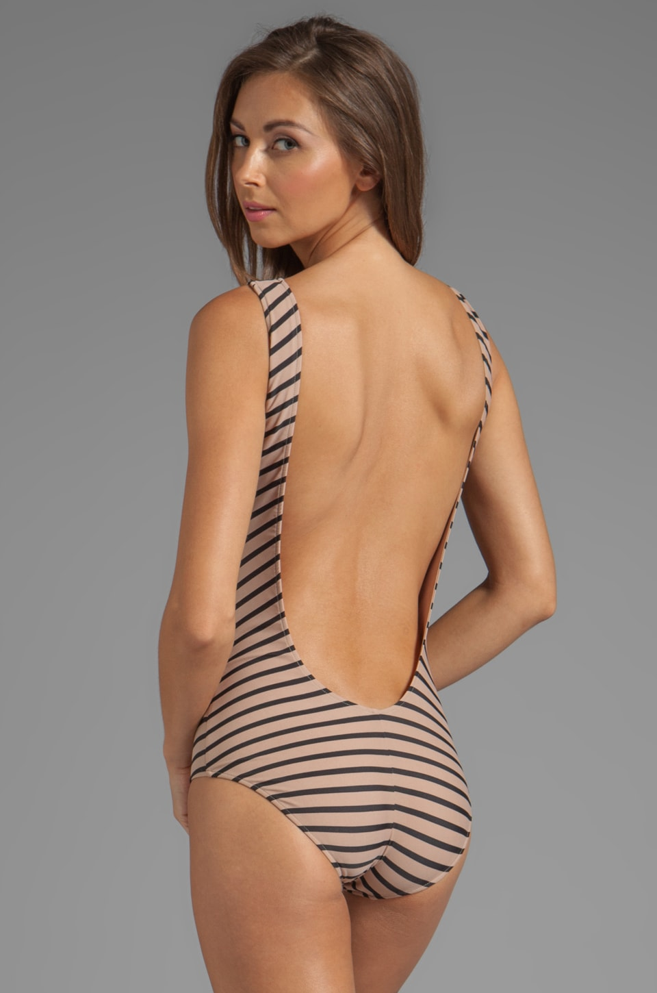 Rachel Pally Liya Maillot in Black Stripe