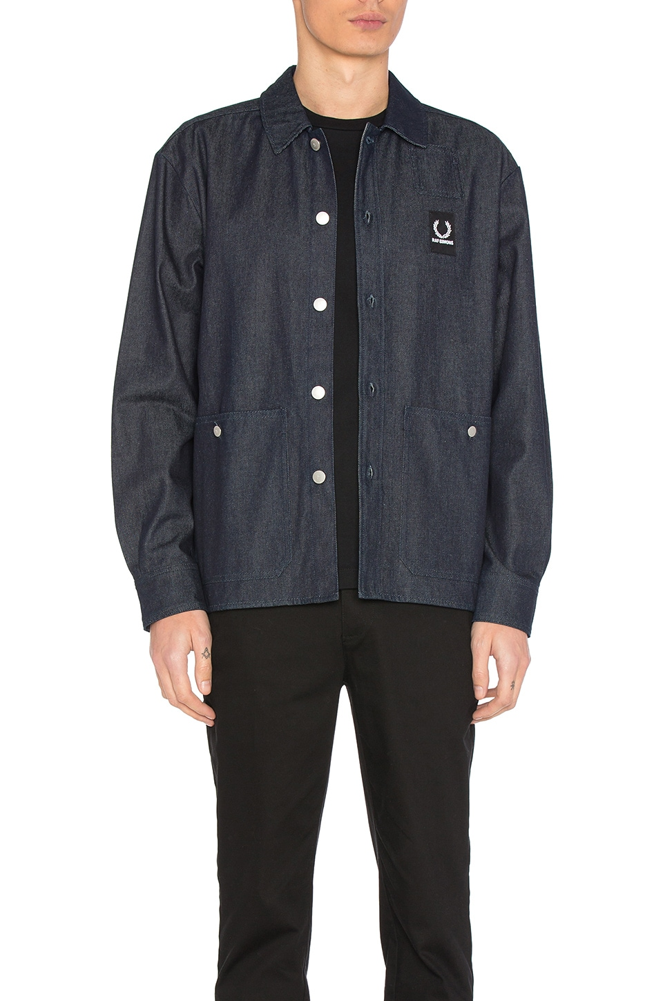 Denim Shirt Jacket by Fred Perry x Raf Simons