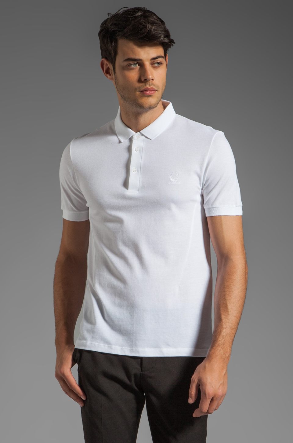 Fred Perry x Raf Simons Classic Fred Perry Shirt Polo in White