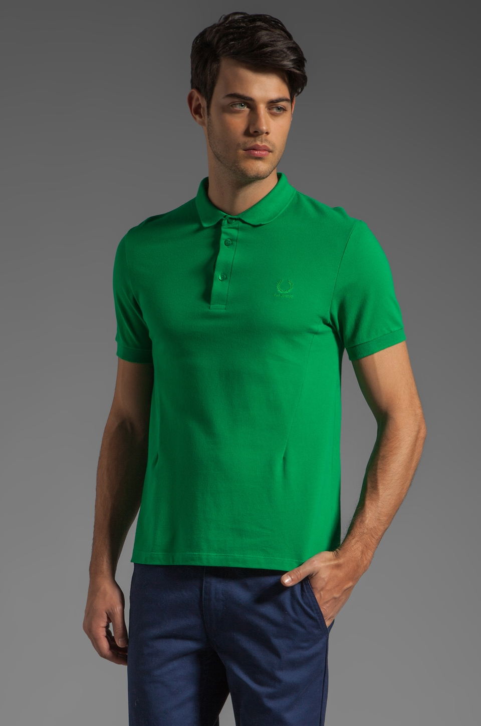 Fred Perry x Raf Simons Classic Fred Perry Shirt Polo in Bright Green