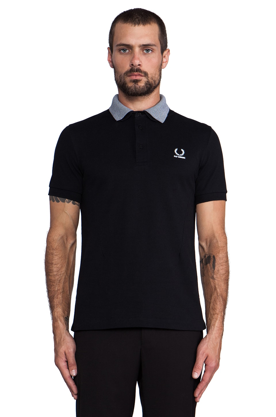Fred Perry x Raf Simons Shirt w/ Detachable Collar in Black