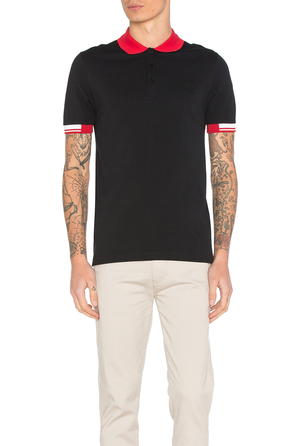 Tipped Cuff Pique Polo by Fred Perry x Raf Simons