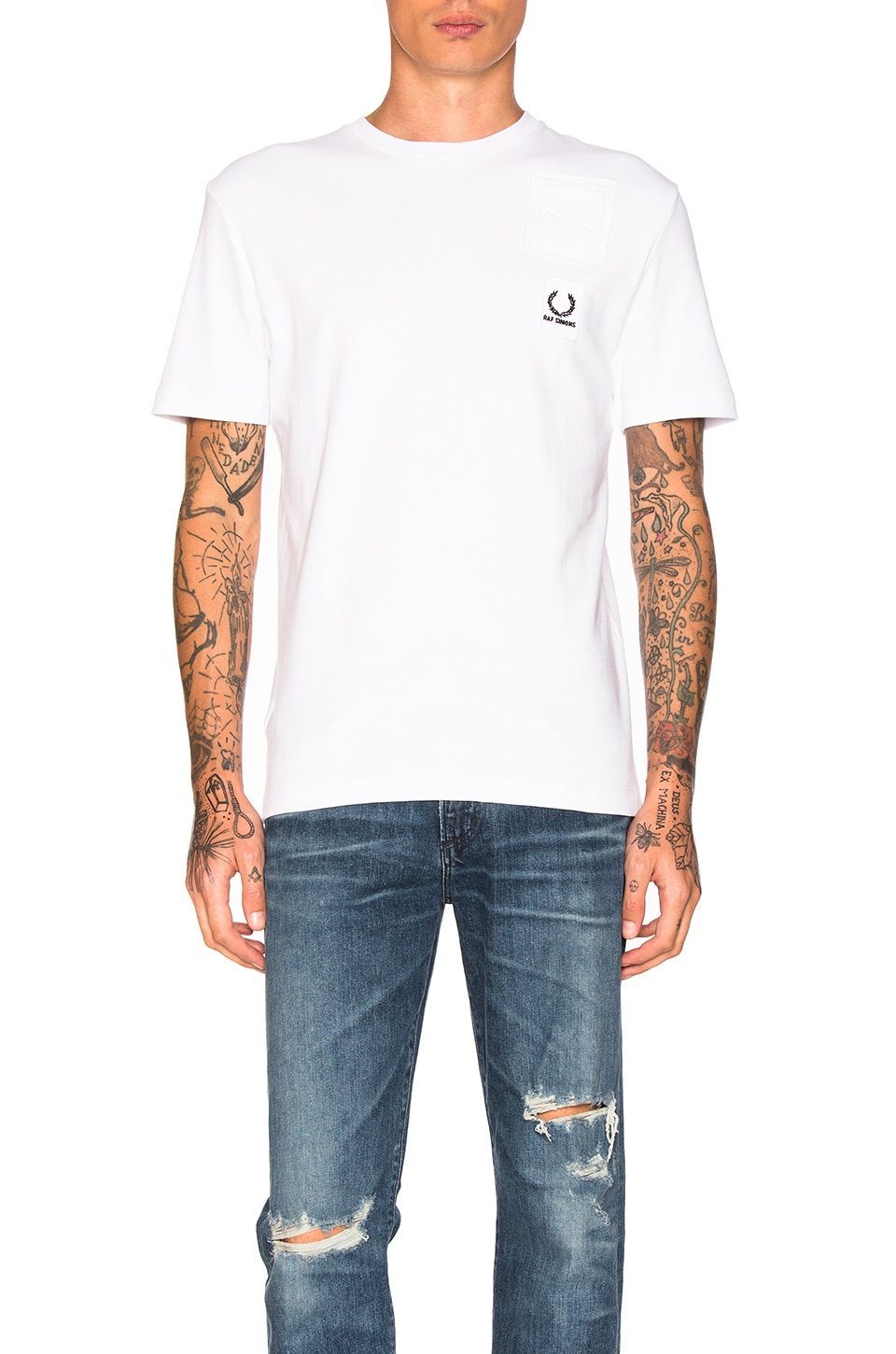 Denim Pocket Tee by Fred Perry x Raf Simons