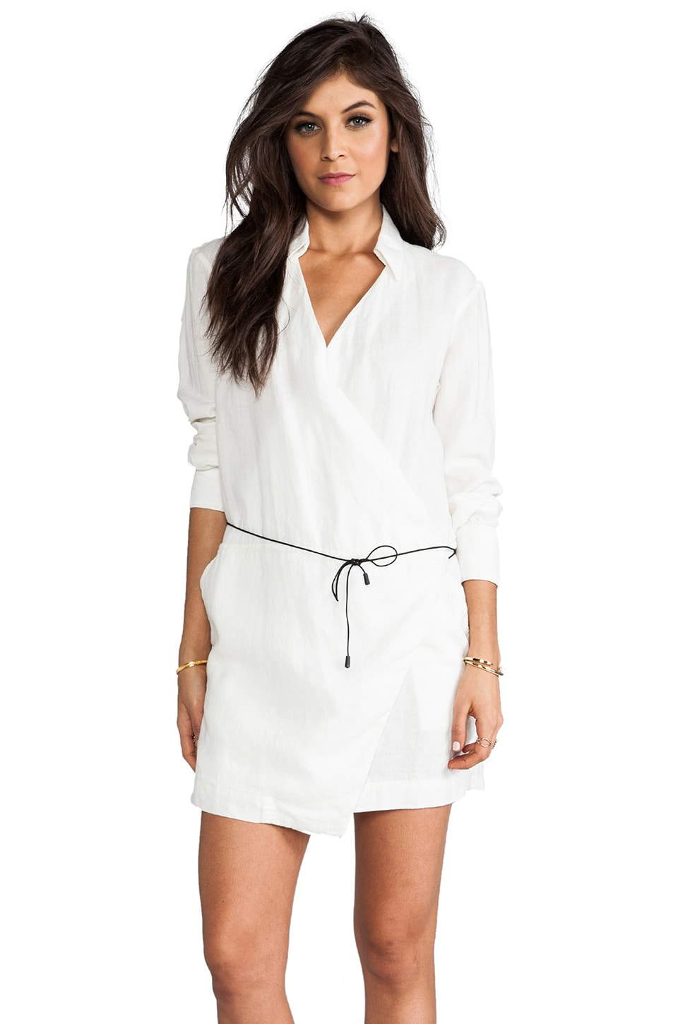 rag & bone/JEAN The Wrap Dress in White