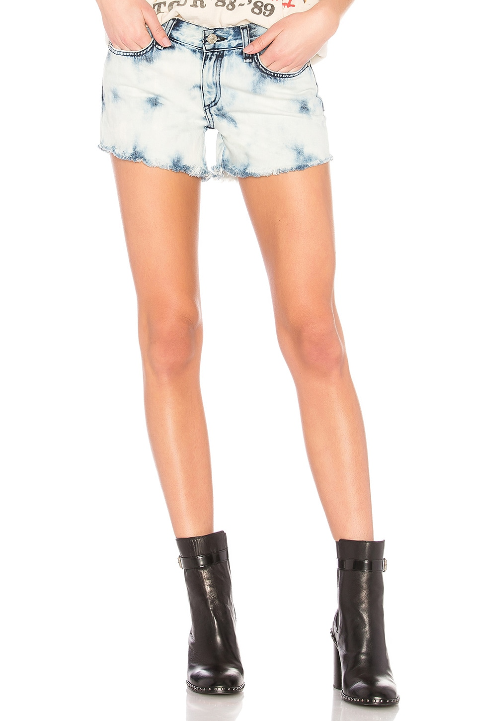 Rag & Bone Cut Off Short in Bleach