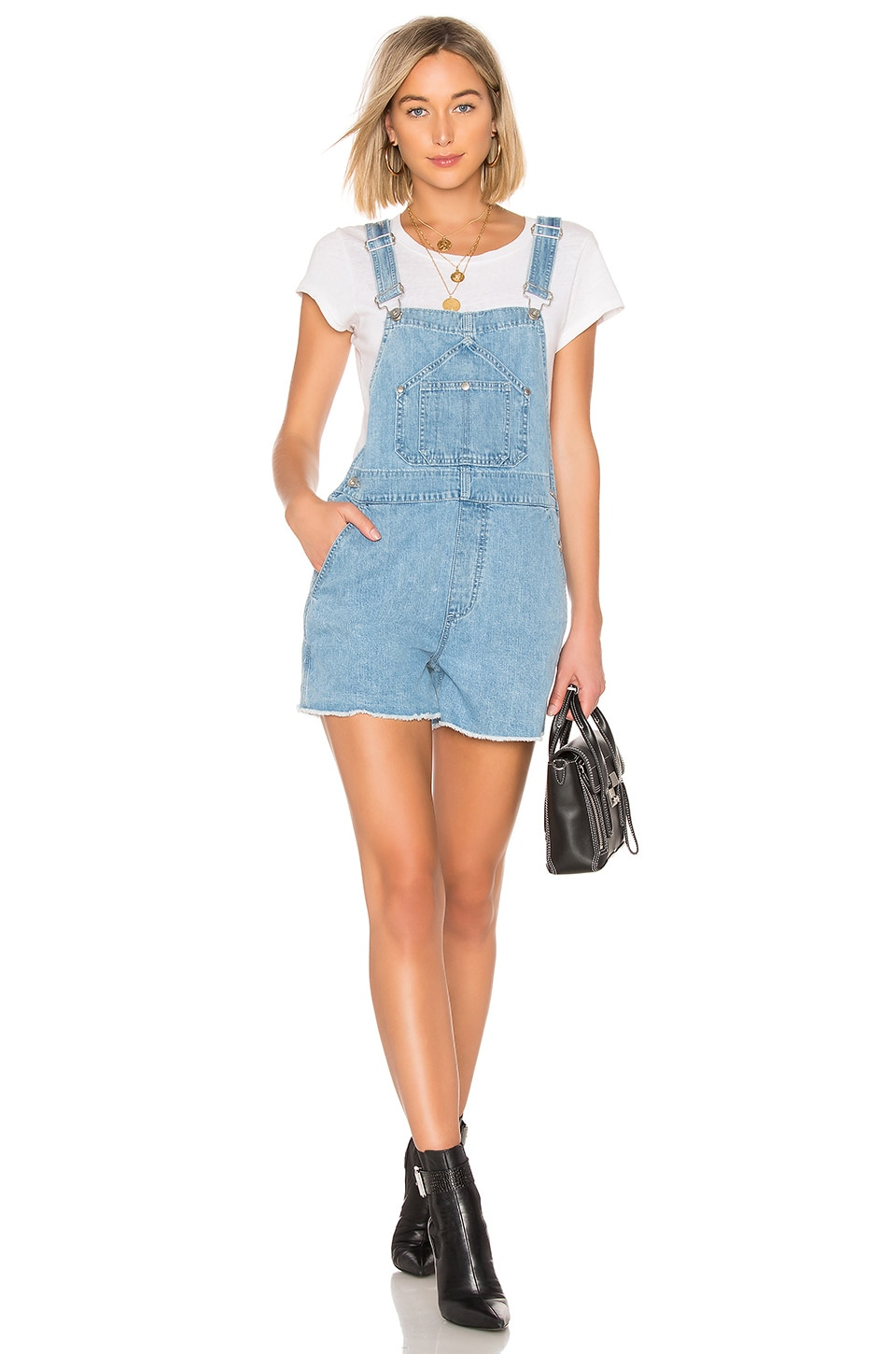 Patched Short Dungaree