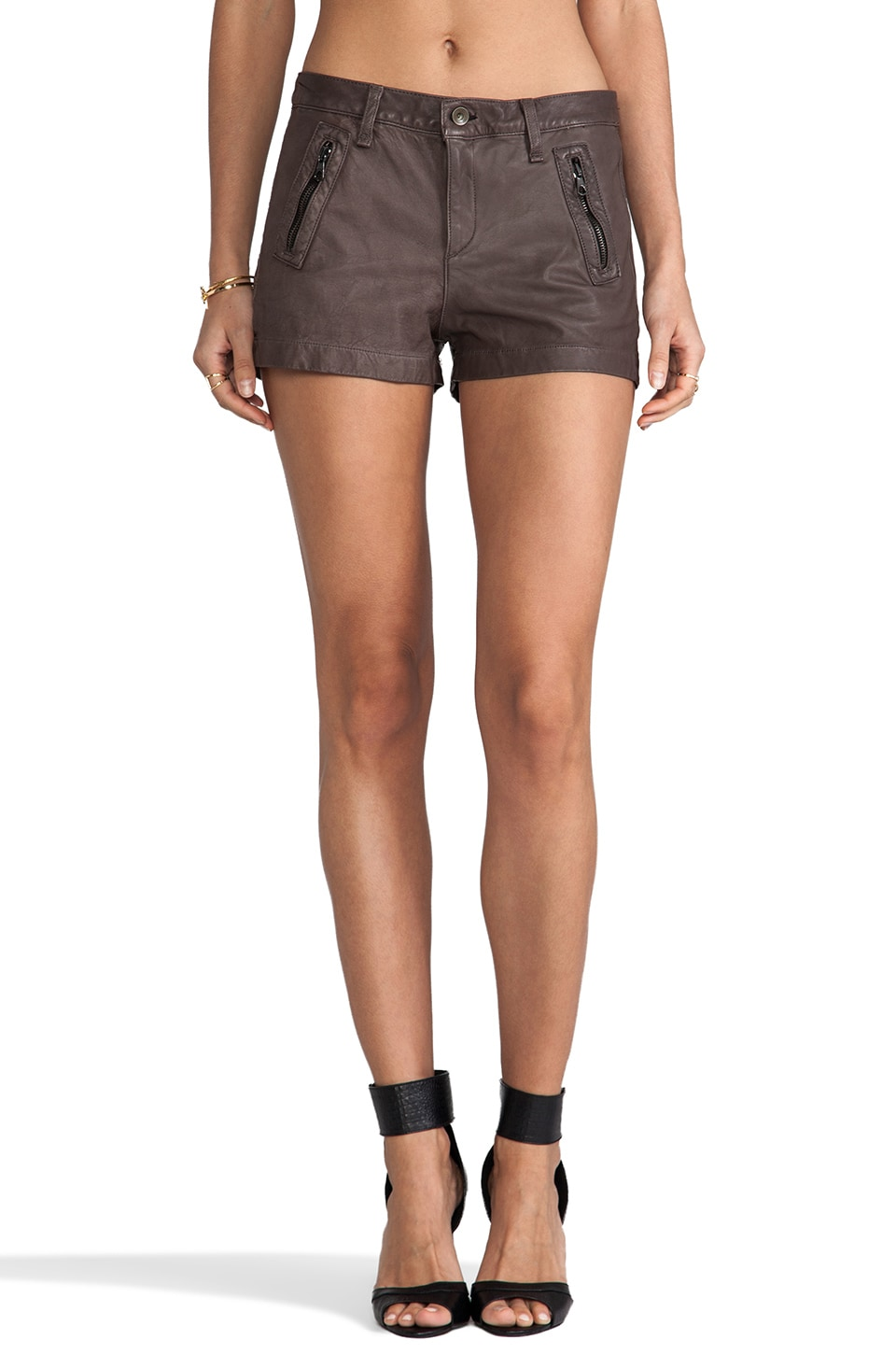 rag & bone/JEAN Lakshmi Short in Charcoal