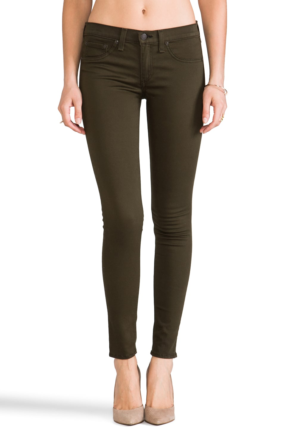 rag & bone/JEAN The Legging in Army Sateen