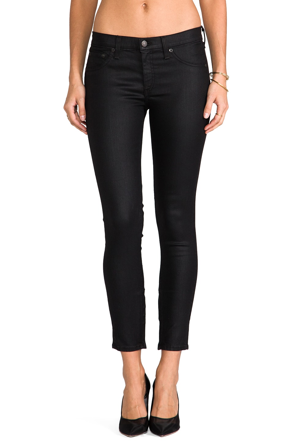 rag & bone/JEAN Zipper Capri Jean in Cotswald