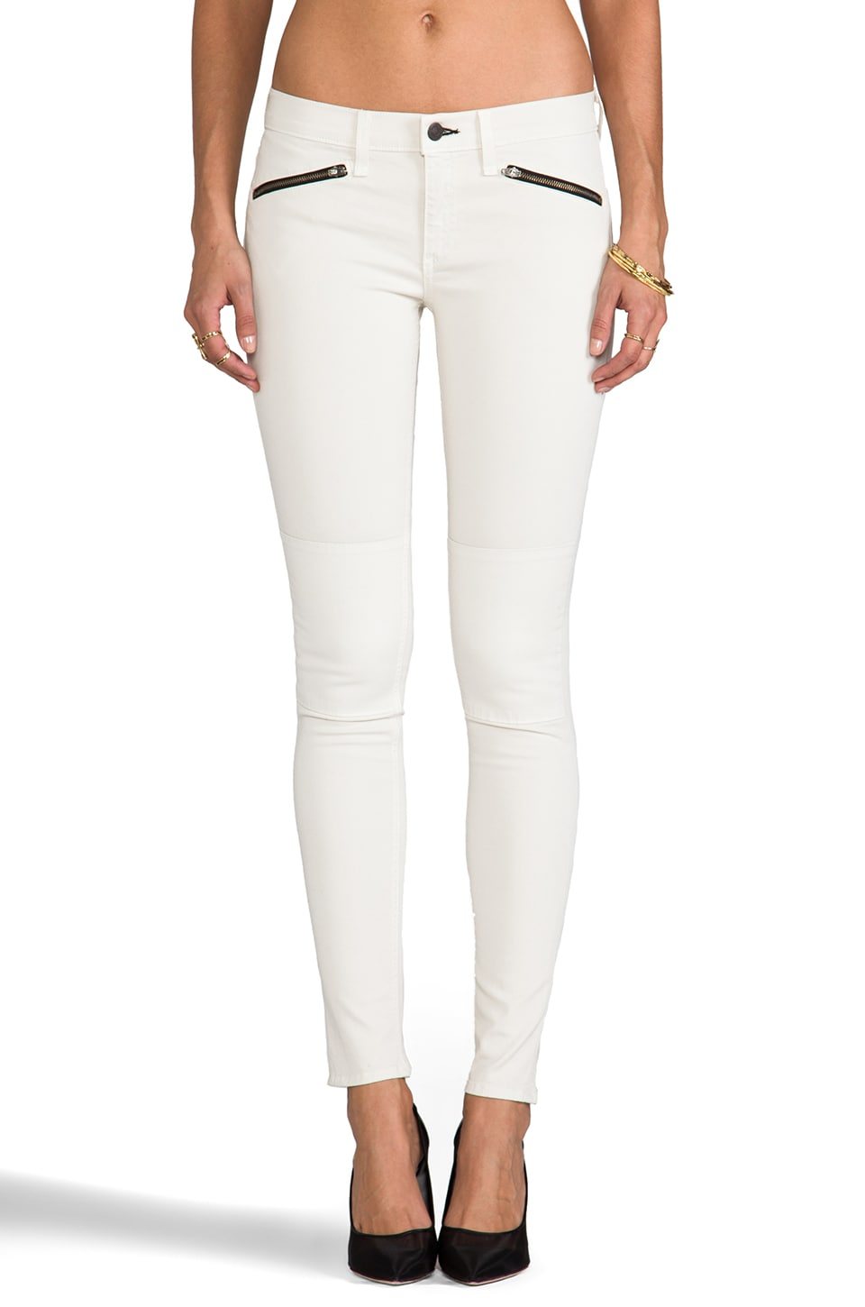 rag & bone/JEAN Ridley Moto Jean in Winter White