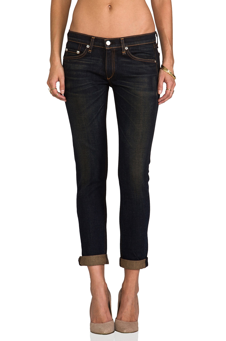 rag & bone/JEAN The Dre Boyfriend Skinny in Charing