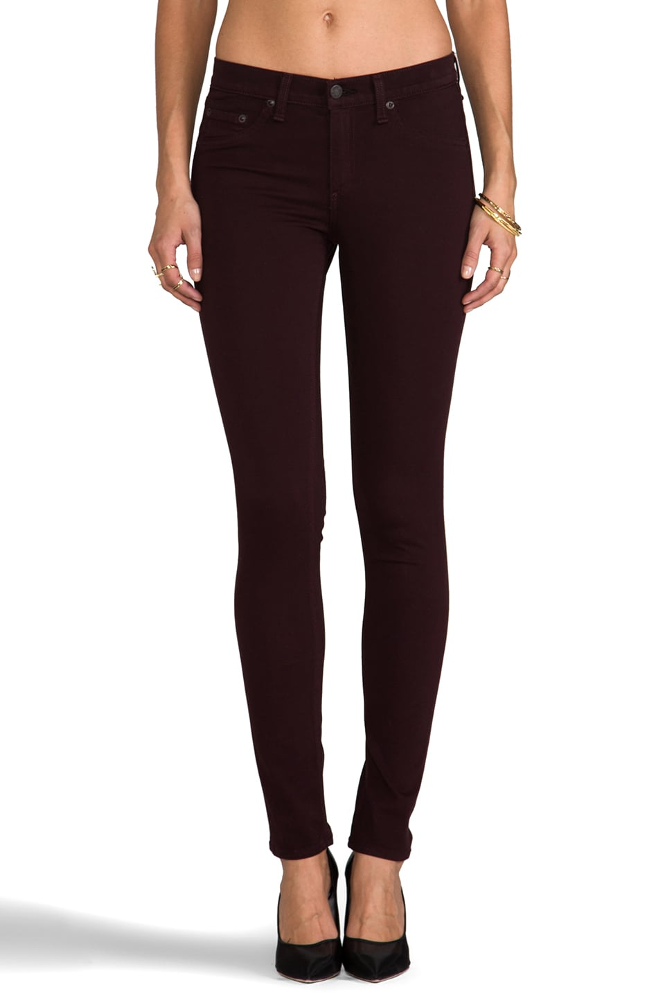 rag & bone/JEAN Plush Legging in Mulberry