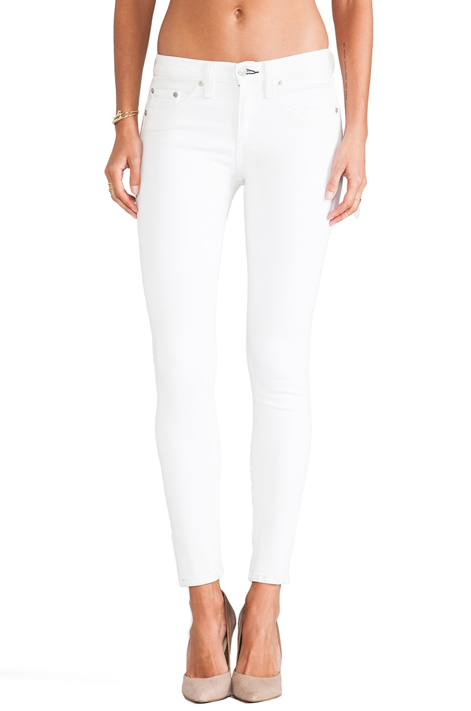 rag & bone/JEAN High Rise Skinny in White