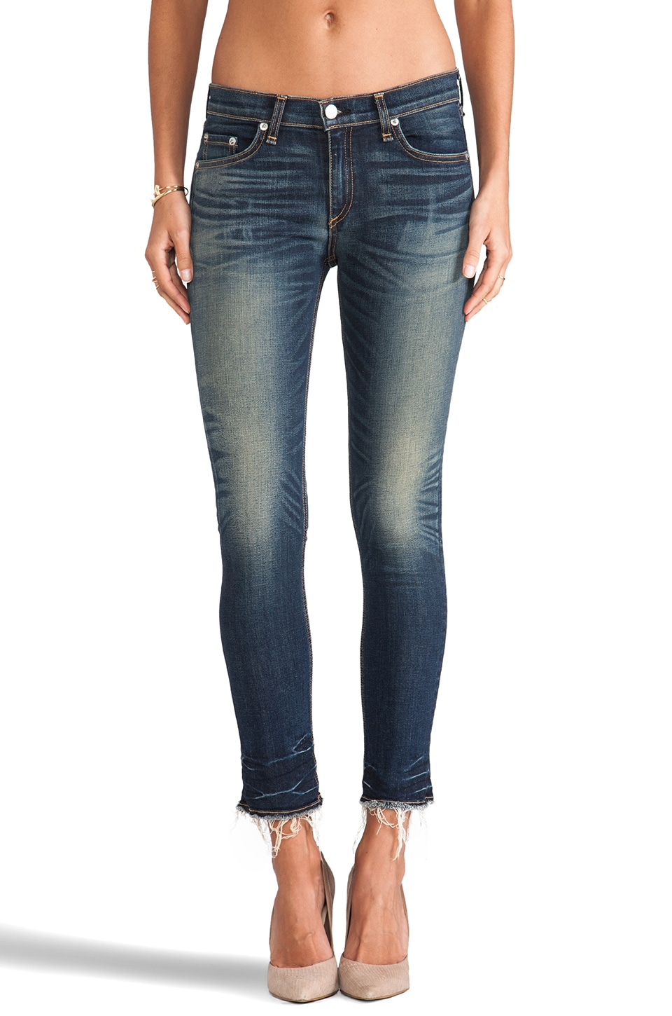 rag & bone/JEAN The Crop Jean in Alderly