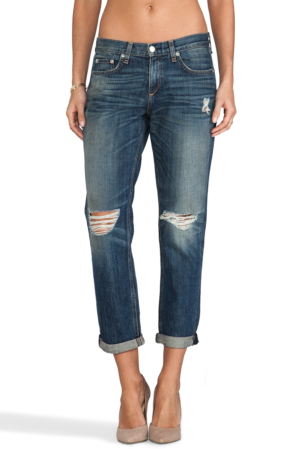 rag & bone/JEAN Boyfriend Jean in Buckly