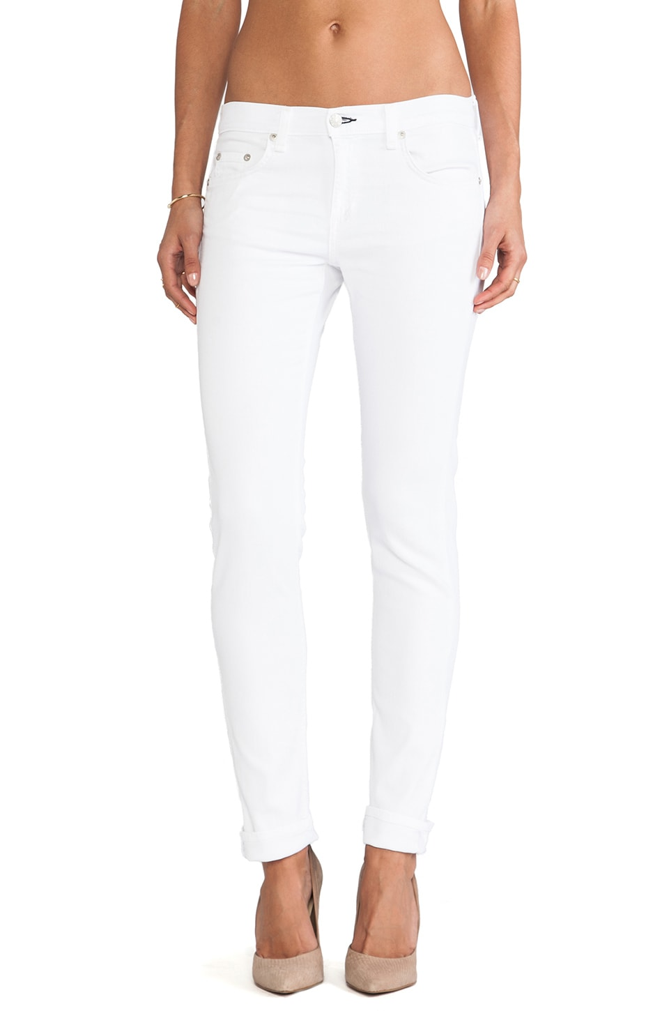 rag & bone/JEAN The Dre in Aged Bright White