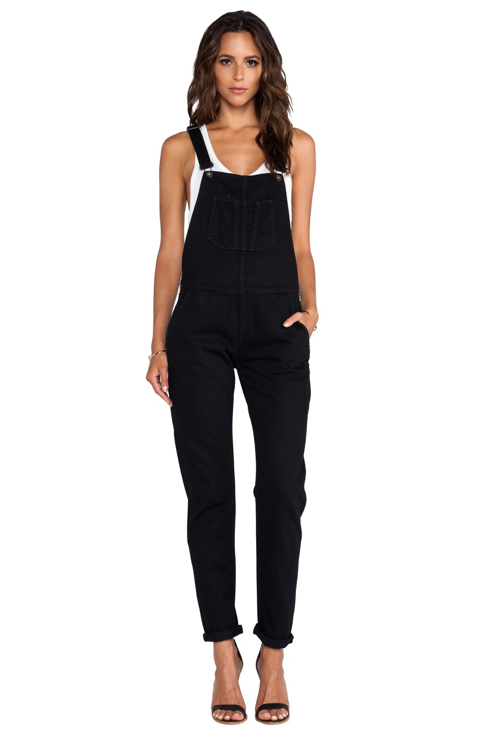 rag & bone/JEAN Overall in Coal