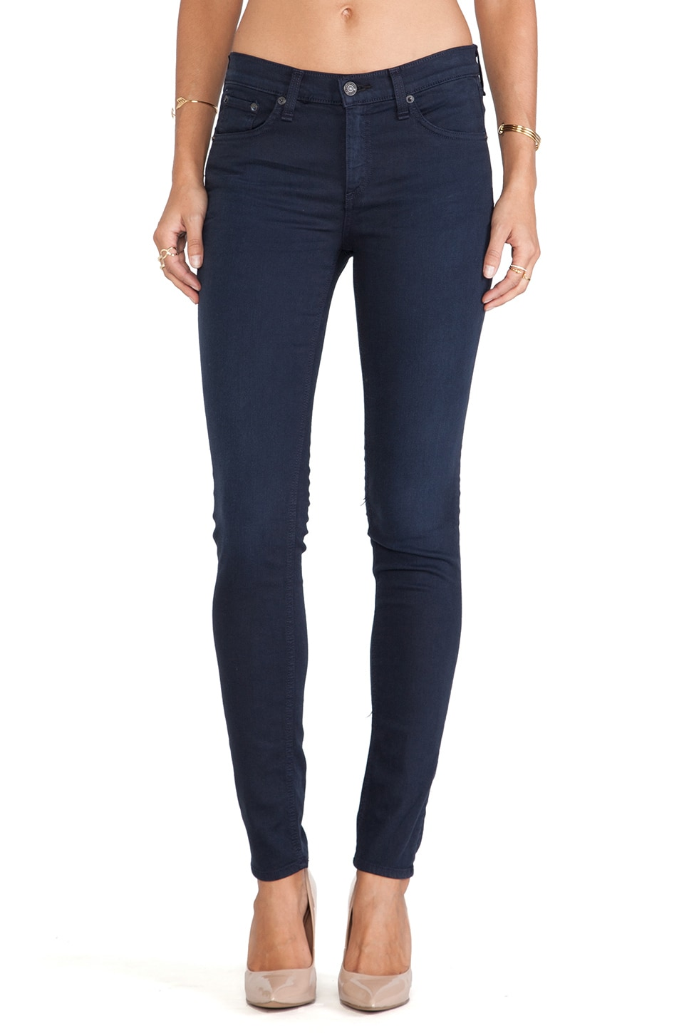 rag & bone/JEAN The Skinny in Distressed Navy