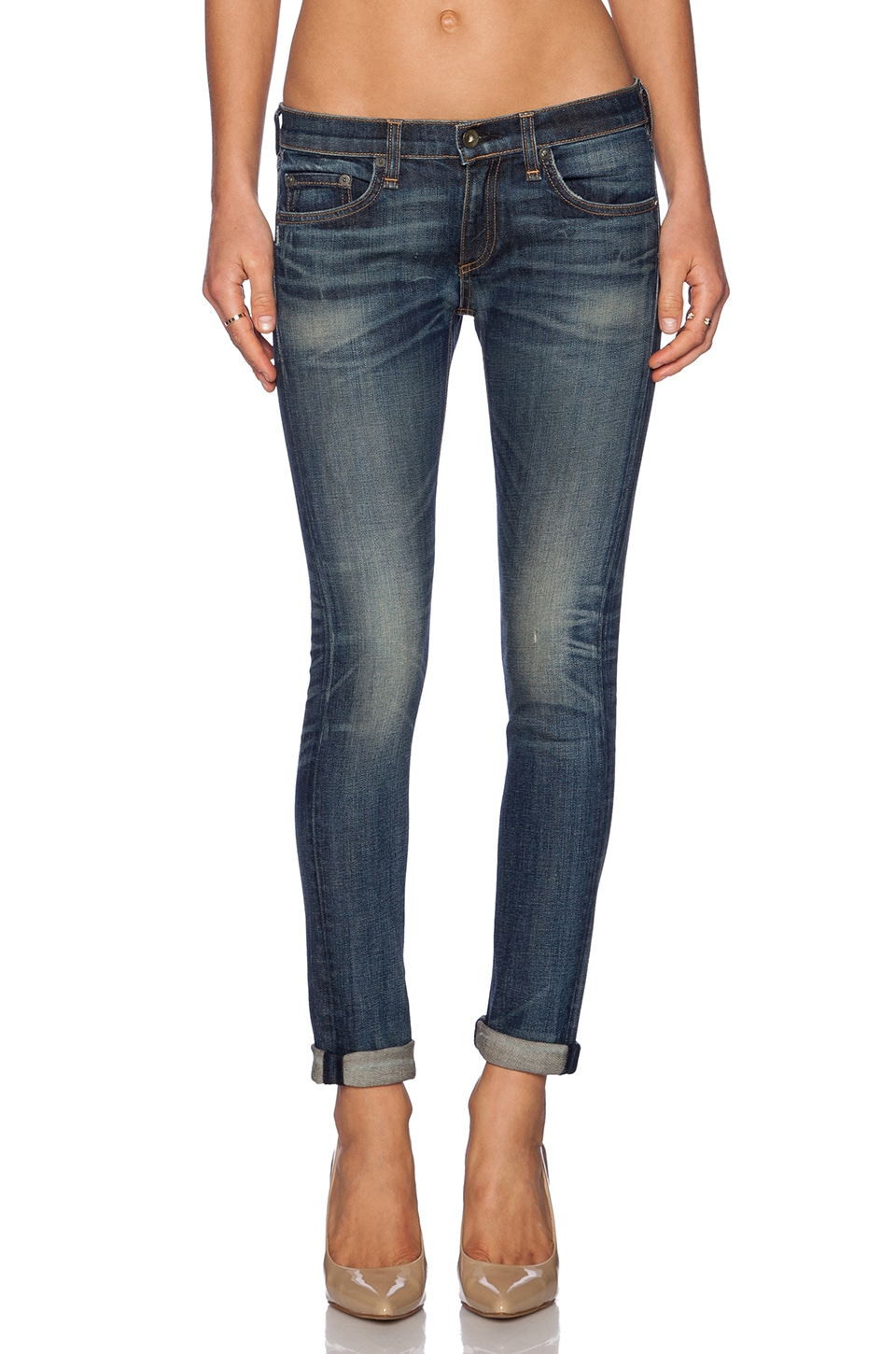 rag & bone/JEAN The Dre Boyfriend in Distressed