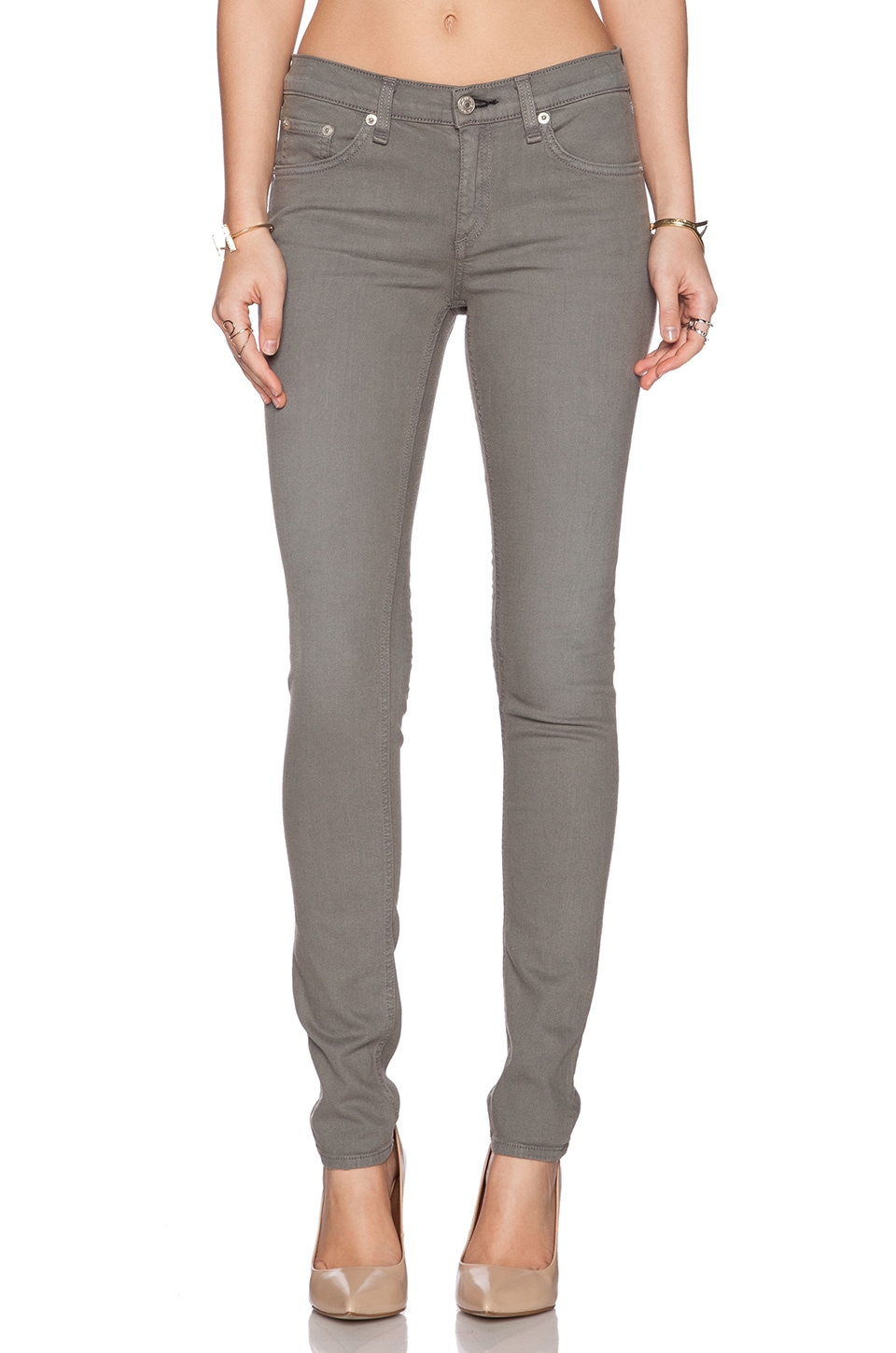 Rag & Bone The Skinny in Distressed Sage