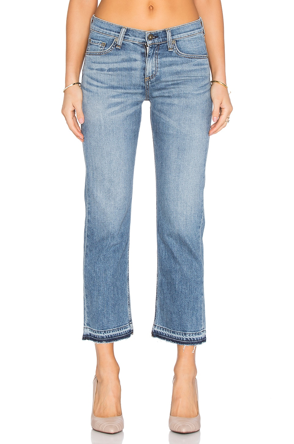 Rag & Bone Crop Straight Leg in Belgrave