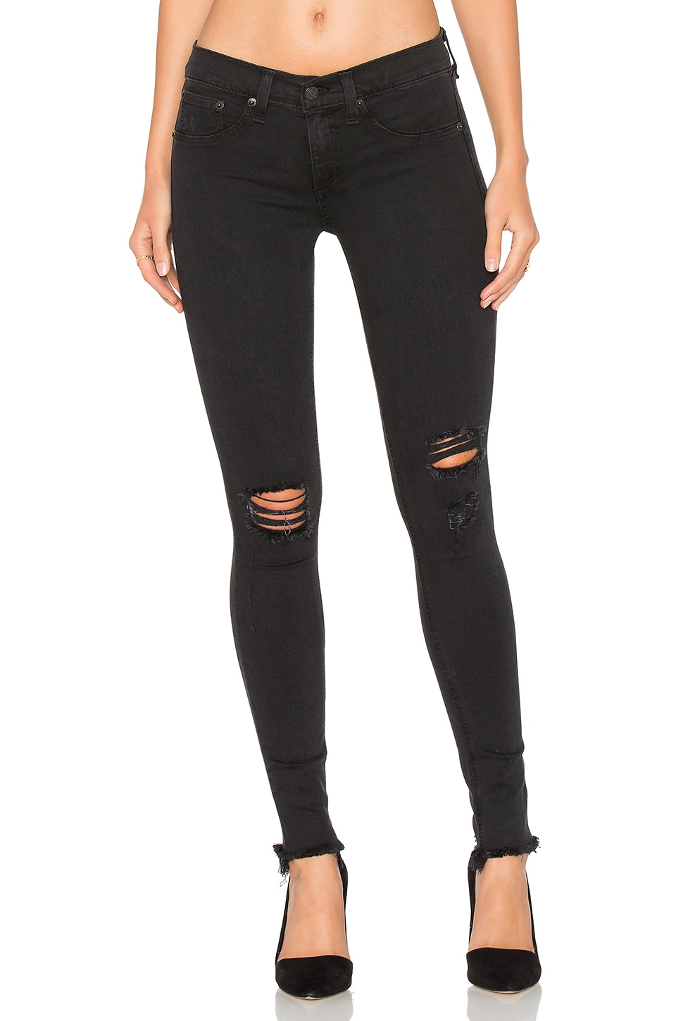rag & bone/JEAN Legging in Night Distressed