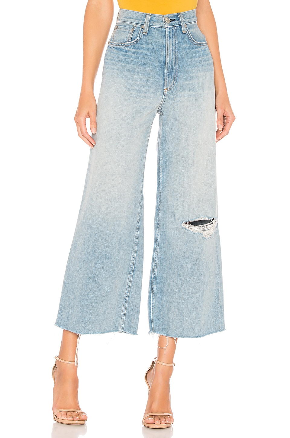 Rag & Bone Ruth Super High Rise Ankle Wide Leg in Frant