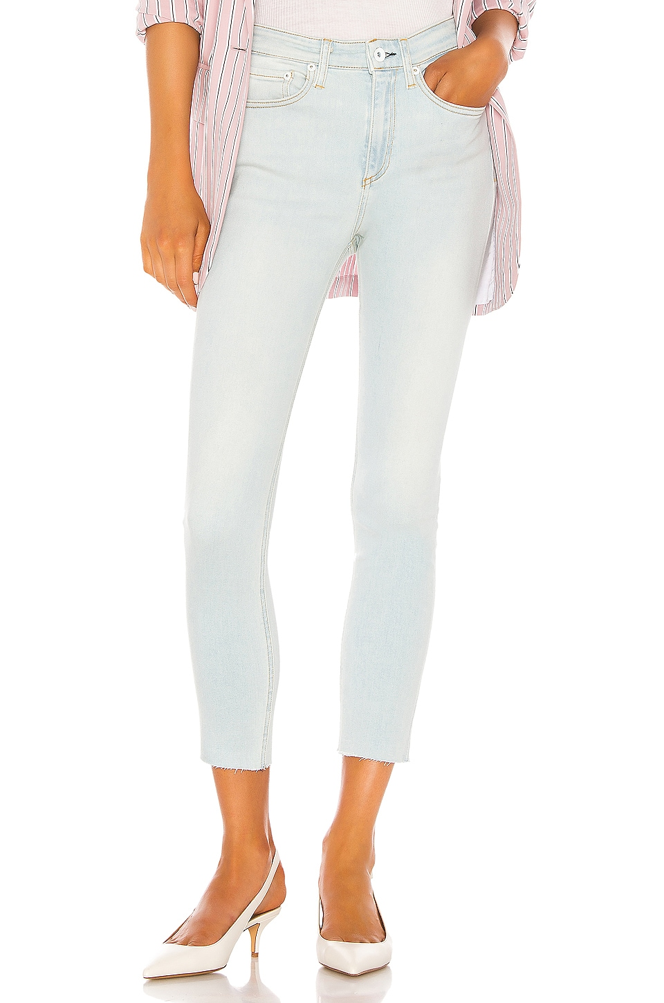 Rag & Bone Nina High Rise Ankle Skinny in Akron