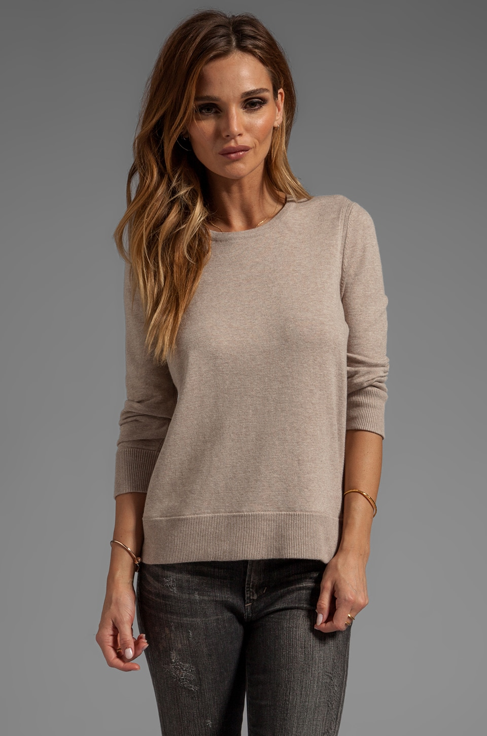 rag & bone/JEAN Casey Pullover Sweater in Oatmeal