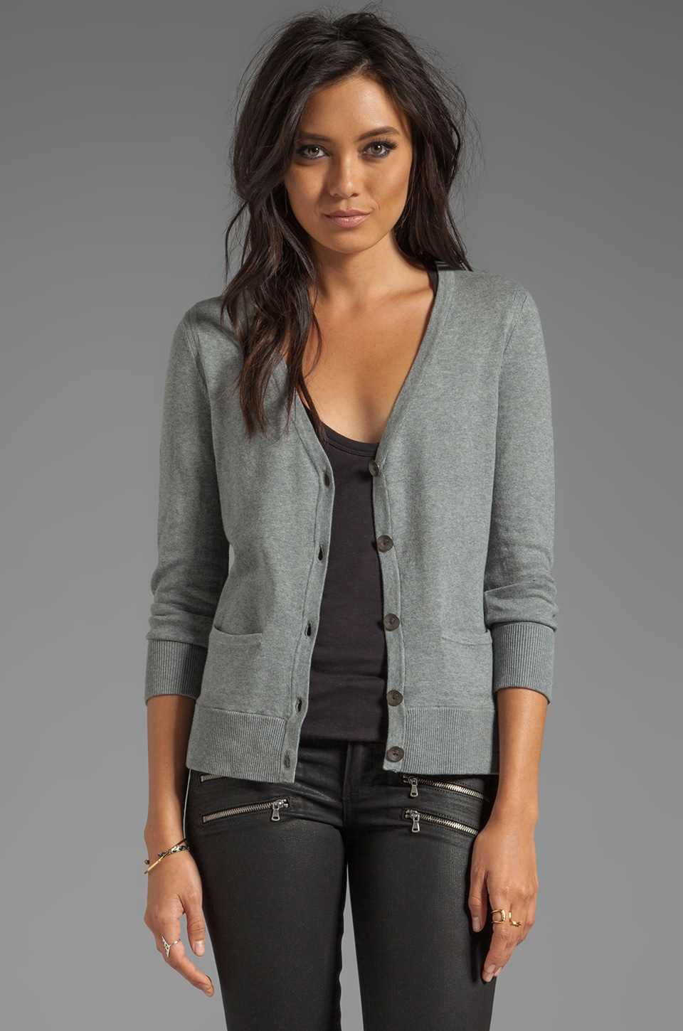 rag & bone/JEAN Casey Cardigan in Grey Melange