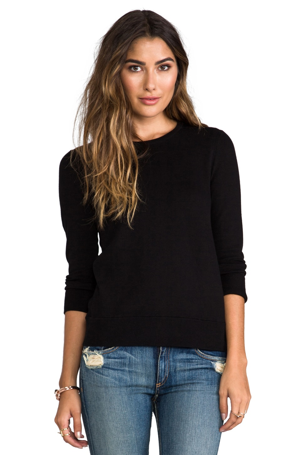 rag & bone/JEAN Casey Pullover Sweater in Black