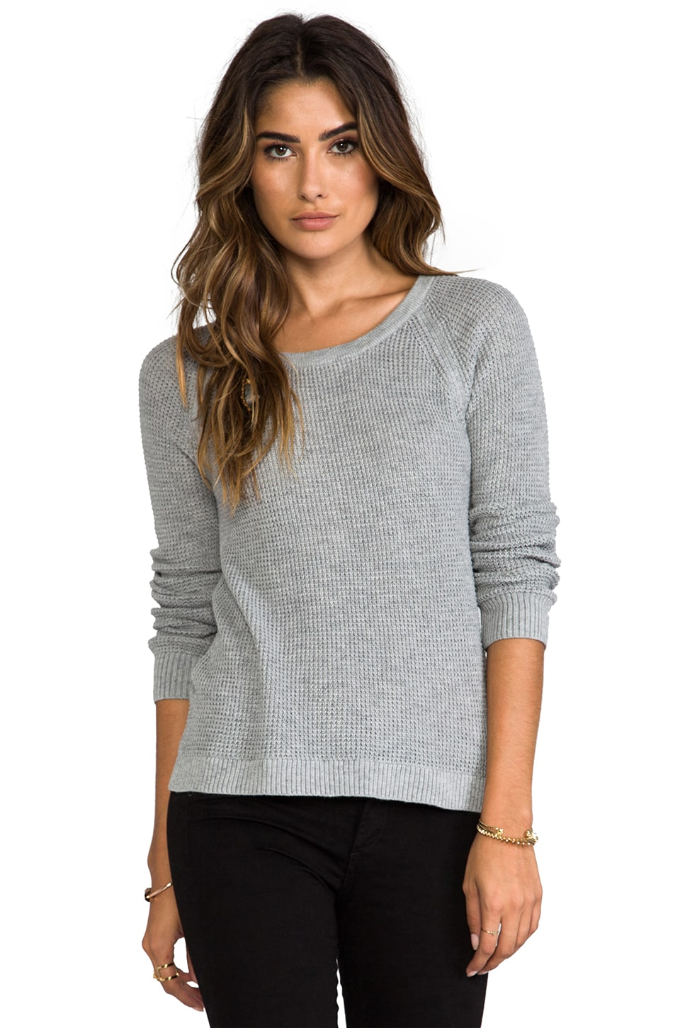 rag & bone/JEAN Belarus Raglan Pullover in Light Grey