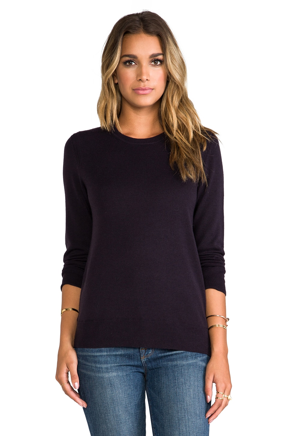 rag & bone/JEAN Natalie Sweater in Eggplant
