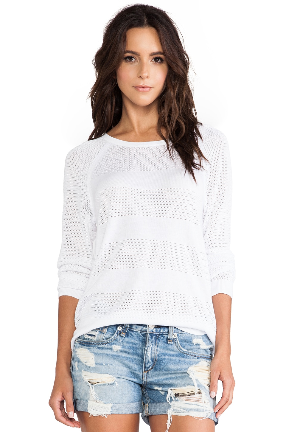 rag & bone/JEAN Bobbi Raglan Pullover in White