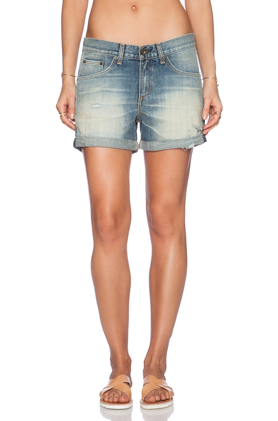 rag & bone/JEAN The Boyfriend Short in Surfer Repair