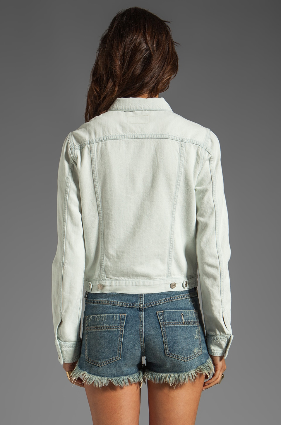 rag & bone/JEAN Jacket in Destroyed Bleach