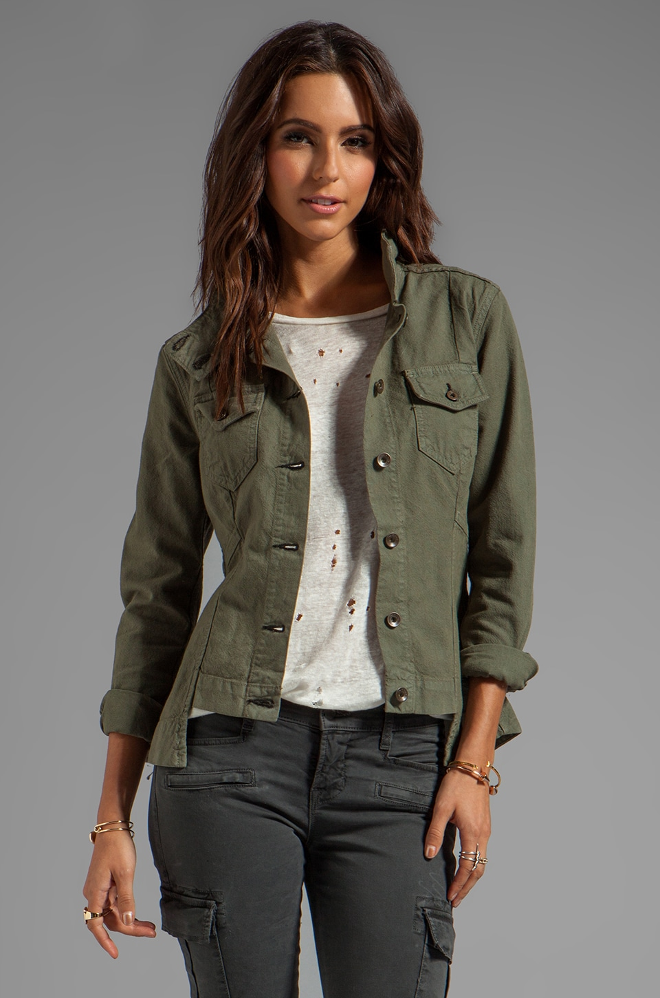 rag & bone/JEAN Chamberlain Jacket in Army Canvas
