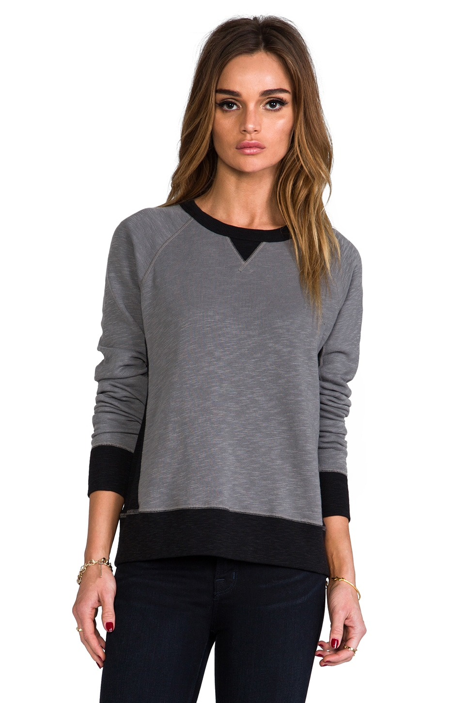 rag & bone/JEAN The Basic Raglan in Charcoal