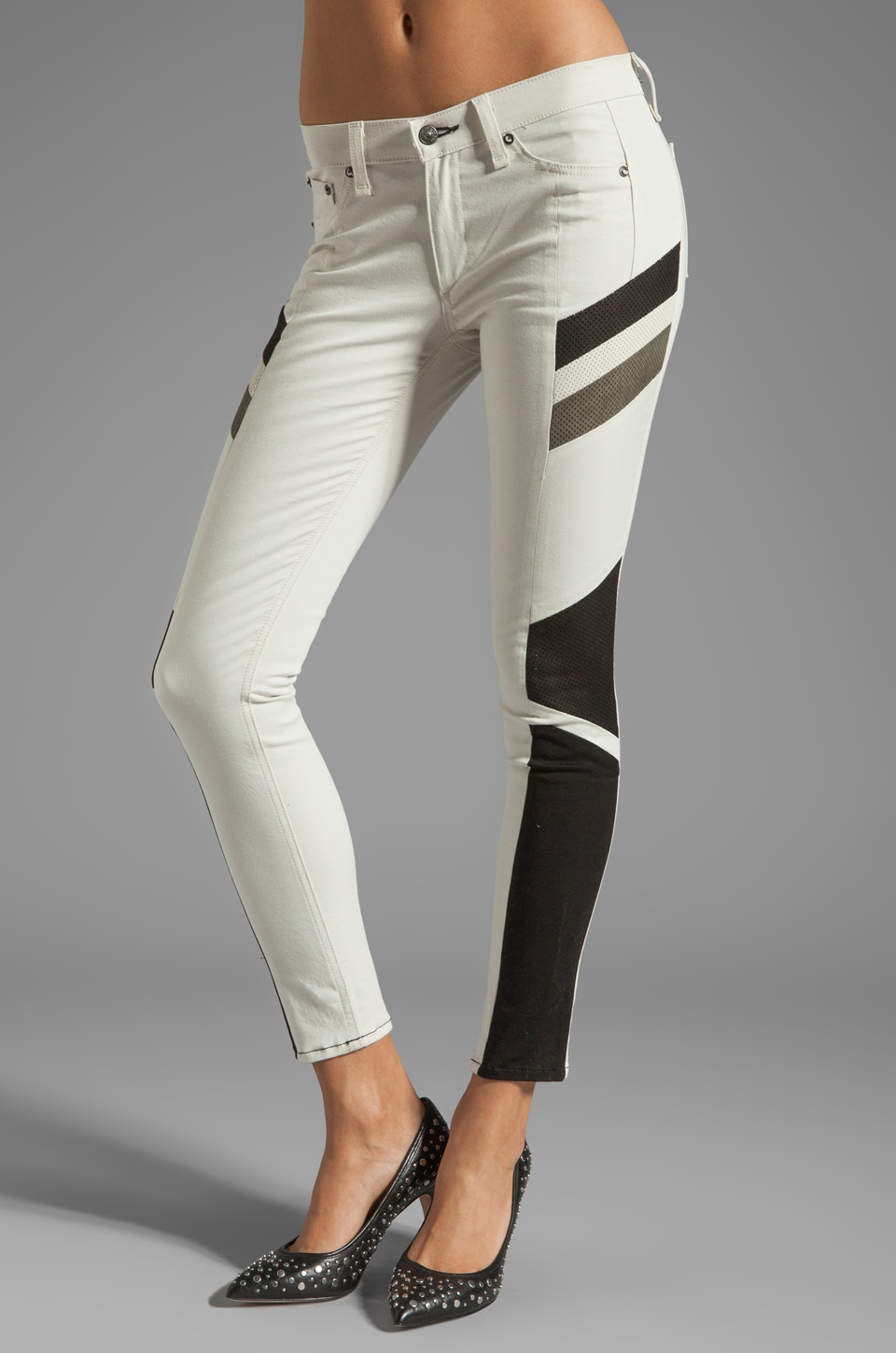 rag & bone/JEAN Halifox Legging in Winter White